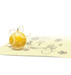 Christmas ball on sketch vector