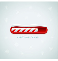 christmas loading red christmas candy cane style vector image