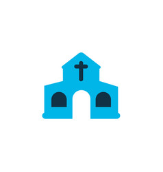 Church icon colored symbol premium quality vector