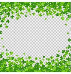 Clovers frame isolated transparent background vector