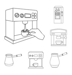 coffee and machine logo vector image