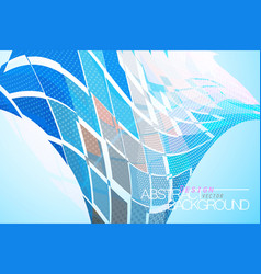 Colorful square shape on a blue vector
