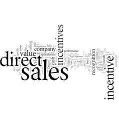 Direct sales incentives vector