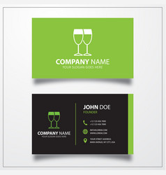 Drink icon business card template vector