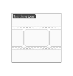 Film strip with space Style thin line vector