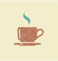 Flat icon of a coffee cup vector