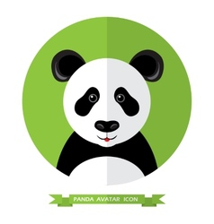 Flat Style Panda Bear Avatar Icon Design Element vector image