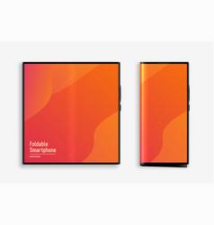 foldable smartphone concept mockup design vector image