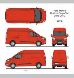 Ford transit custom cargo panel van l2h2 2018-2019 vector
