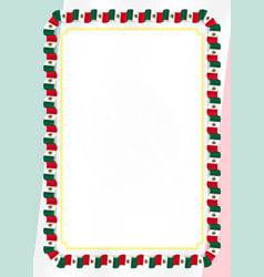 Frame and border of ribbon with mexico flag vector