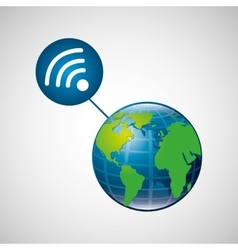 Globe world internet connection service vector