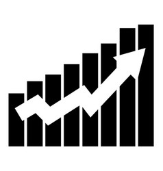 growing graph business icon vector image