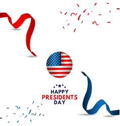 happy presidents day template design vector image
