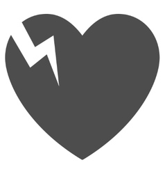 Heart Crack Flat Icon vector