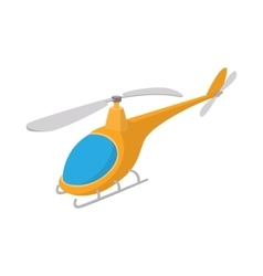 Helicopter icon cartoon style vector image