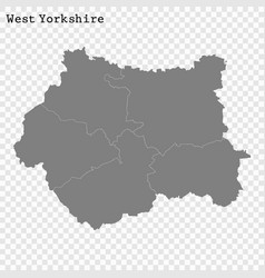high quality map is a county england vector image