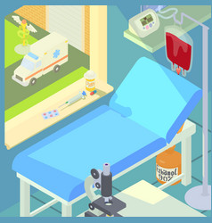 hospital medical chamber concept cartoon style vector image