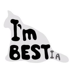 im best or im bestia vector image
