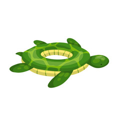 Inflatable swimming ring life-ring in pool for vector