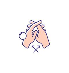 Interlink fingers rgb color icon vector