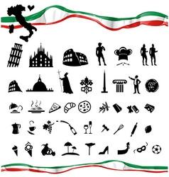 ITALIAN symbol set with flag vector