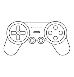 Joystick drone control icon outline style vector