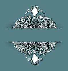 laser cutting wedding frame decoration design on vector image
