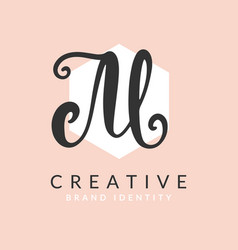 Letter m logo calligraphy design template vector