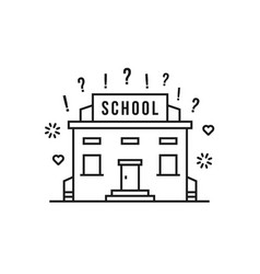linear school building like education vector image