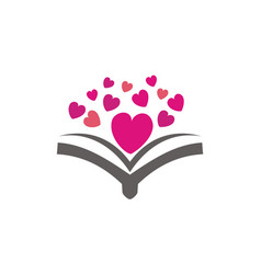 love and book vector image