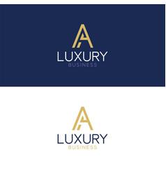 luxury logo a modern style vector image