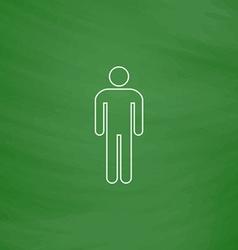 Man computer symbol vector image