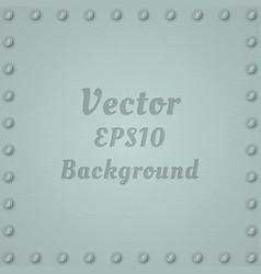 Metallic background steel textured plate vector