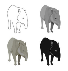 mexican tapir icon in cartoon style isolated on vector image