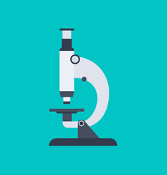 microscope in flat style isolated on blue vector image