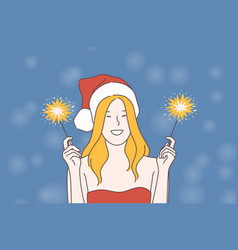 New year celebration festive mood concept vector