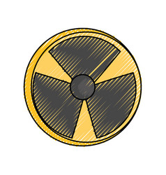 nuclear danger symbol cartoon vector image
