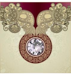 ornate diamond luxury background vector image