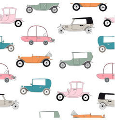 Retro cars print vector