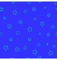 Ring and stars blue seamless pattern vector image