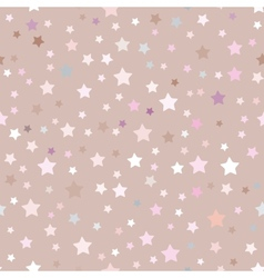 Seamless pattern with stars pink beige vector