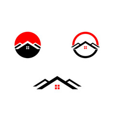 set of real estate logo design template vector image