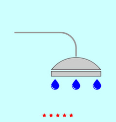 shower it is icon vector image