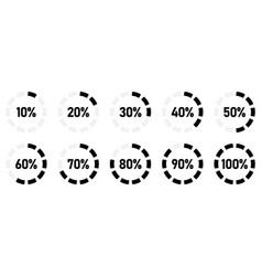 simple circular loading scale with percentage text vector image