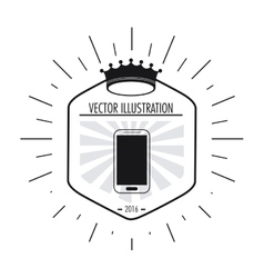 Smartphone icon Hipster Style design vector