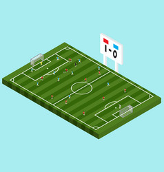 soccer competition isometric vector image