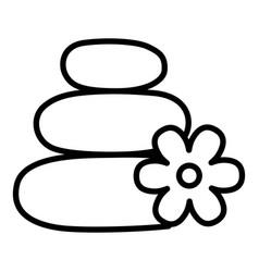 spa stones line icon vector image