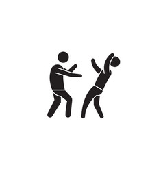 street fight black concept icon street vector image
