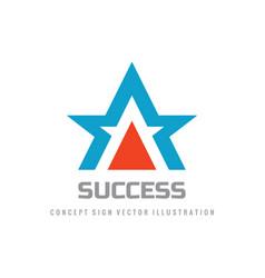 success - concept logo design abstract star shape vector image