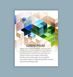 Template brochure design vector